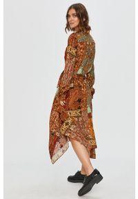 Wielokolorowa sukienka Desigual z długim rękawem, midi #5