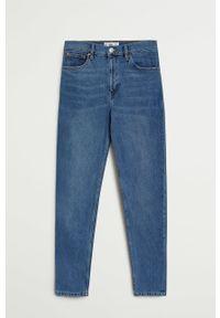 Niebieskie jeansy bootcut mango z podwyższonym stanem