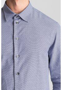 Niebieska koszula Armani Collezioni casualowa, na lato, na co dzień