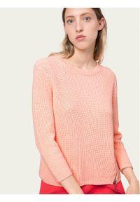 Różowy sweter klasyczny Hugo