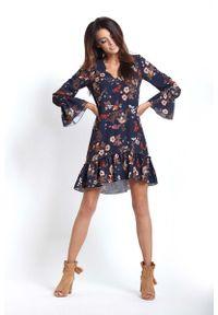 Sukienka z falbanami IVON z falbankami, w kwiaty