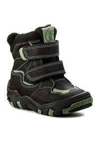 Czarne buty zimowe Kornecki z cholewką, z cholewką za kostkę