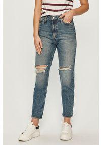Niebieskie jeansy loose fit Calvin Klein Jeans z podwyższonym stanem