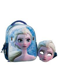 GIM plecak junior Frozen Elsa z maską. Kolor: fioletowy. Materiał: materiał. Wzór: motyw z bajki, paski