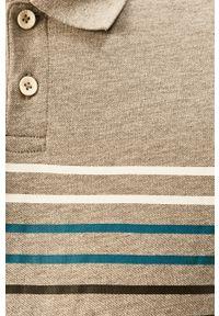 Szara koszulka polo PRODUKT by Jack & Jones na co dzień, z nadrukiem, casualowa, krótka