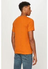 Brązowy t-shirt Jack & Jones na co dzień, casualowy, z nadrukiem