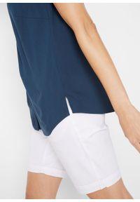 Bluzka z wiskozy, bez rękawów bonprix ciemnoniebieski. Kolor: niebieski. Materiał: wiskoza. Długość rękawa: bez rękawów