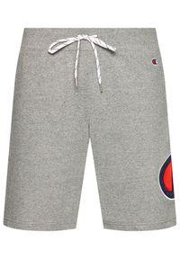 Champion Szorty sportowe Satin & Twill C Logo 214207 Szary Comfort Fit. Kolor: szary
