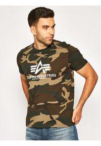 Alpha Industries T-Shirt Basic 100501C Zielony Regular Fit. Kolor: zielony