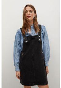 mango - Mango - Sukienka jeansowa India. Okazja: na co dzień. Kolor: szary. Materiał: jeans. Typ sukienki: proste. Styl: casual