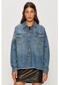 Niebieska koszula Vero Moda na co dzień, długa