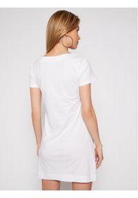 Biała sukienka letnia Love Moschino na co dzień, prosta, casualowa