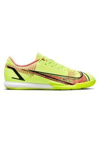 Buty męskie piłkarskie halowe Nike Mercurial Vapor 14 Academy CV0973. Zapięcie: sznurówki. Materiał: guma, skóra, materiał, syntetyk. Szerokość cholewki: normalna. Sport: piłka nożna