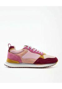 HOFF - Różowe sneakersy Mexico. Kolor: czerwony. Materiał: jeans, guma, materiał, zamsz. Wzór: nadruk