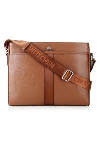 Brązowa torba na laptopa Wittchen