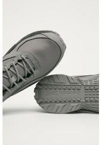 Szare sneakersy Reebok Gore-Tex, z okrągłym noskiem, na sznurówki, z cholewką