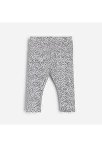Szare spodnie Reserved w kropki