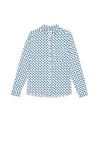 Koszula MOODO długa, w grochy, z długim rękawem