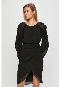 Czarna sukienka Miss Sixty mini, klasyczna, gładkie