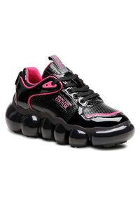 Versace Jeans Couture - Sneakersy VERSACE JEANS COUTURE - E0VWASN1 71951 899. Kolor: czarny. Materiał: skóra ekologiczna, materiał. Szerokość cholewki: normalna. Obcas: na płaskiej podeszwie