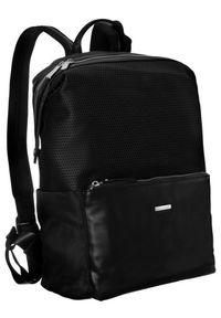 DAVID JONES - Plecak damski, młodzieżowy czarny David Jones 788805 BLACK. Kolor: czarny. Materiał: skóra ekologiczna. Styl: młodzieżowy