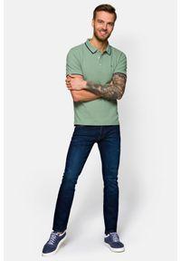 Niebieskie jeansy Lancerto z haftami, na jesień, vintage
