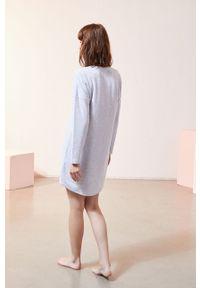 Szara piżama Etam długa, z aplikacjami