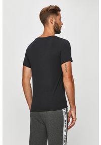 Czarny t-shirt Guess Jeans casualowy, na co dzień