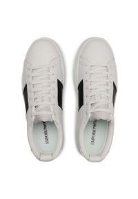 Emporio Armani - Sneakersy EMPORIO ARMANI - X4X287 XM716 N592 Opt.Wht/Blk/Opt.Wht. Okazja: na co dzień. Kolor: biały. Materiał: skóra, materiał. Szerokość cholewki: normalna. Styl: klasyczny, casual