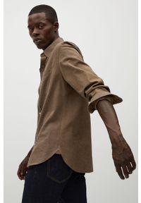 Brązowa koszula Mango Man z długim rękawem, długa, klasyczna, z klasycznym kołnierzykiem #11