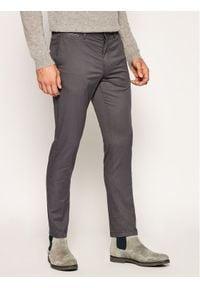 TOMMY HILFIGER - Tommy Hilfiger Spodnie materiałowe Bleecker MW0MW13853 Szary Slim Fit. Kolor: szary. Materiał: materiał