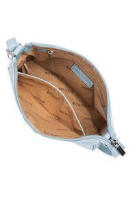 Wittchen - Torebka na ramię z doczepianą saszetką. Kolor: niebieski. Dodatki: z breloczkiem. Materiał: skórzane. Styl: klasyczny. Rodzaj torebki: na ramię #5