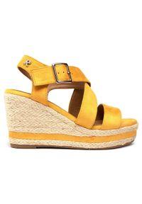 Refresh - Espadryle REFRESH - 72735 Yellow. Okazja: na co dzień, na spacer. Kolor: żółty. Materiał: materiał. Sezon: lato. Styl: casual