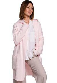 Różowy sweter BE Knit sportowy, długi