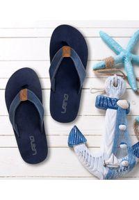 LANO - Japonki męskie Lano KL-4-1707 Granatowe. Okazja: na plażę. Kolor: niebieski. Materiał: tworzywo sztuczne. Obcas: na obcasie. Styl: elegancki. Wysokość obcasa: średni, niski