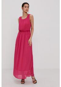 Jacqueline de Yong - Sukienka. Okazja: na co dzień. Kolor: różowy. Materiał: tkanina. Wzór: gładki. Typ sukienki: proste. Styl: casual