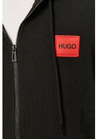 Czarna bluza rozpinana Hugo na co dzień, z kapturem