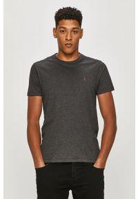 Szary t-shirt AllSaints z aplikacjami