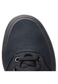 Czarne buty sportowe Adidas z cholewką, z aplikacjami, na sznurówki
