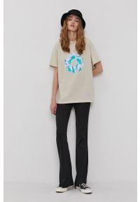Local Heroes - T-shirt z kolekcji limitowanej. Kolor: beżowy. Materiał: dzianina, materiał. Wzór: nadruk