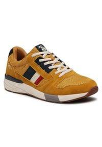 U.S. Polo Assn - Sneakersy U.S. POLO ASSN. - Clem CLEM4095S1/HM1 Ocra. Okazja: na co dzień. Kolor: żółty. Materiał: materiał. Szerokość cholewki: normalna. Styl: elegancki, sportowy, casual