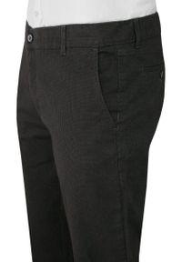 Verrs - Grafitowe Casualowe Męskie Spodnie -VERRS- Zwężane, Chinosy, Bawełniane z Lycrą, Popielate. Okazja: na co dzień. Kolor: szary. Materiał: lycra, bawełna. Styl: casual