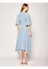 Niebieska sukienka wieczorowa Marella