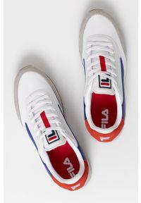 Fila - Buty Retronique. Nosek buta: okrągły. Zapięcie: sznurówki. Kolor: biały. Materiał: guma