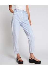 ONETEASPOON - Jeansy z wysokim stanem Pioneer. Stan: podwyższony. Kolor: niebieski. Sezon: lato