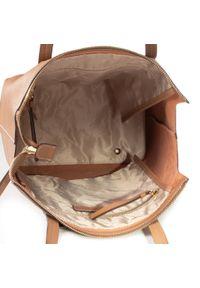 Brązowa torebka klasyczna Gino Rossi klasyczna, skórzana