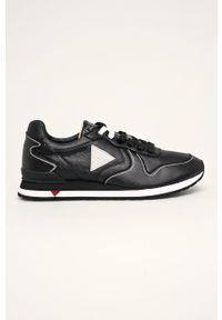 Czarne sneakersy Guess Jeans na sznurówki, z cholewką