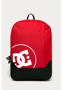 Czerwony plecak DC z nadrukiem