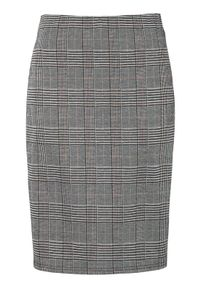Szara spódnica Cellbes elegancka, w kratkę, krótka