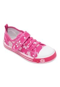 UNDERLINE - Trampki dziecięce Underline 8C181104 Różowe. Zapięcie: rzepy. Kolor: różowy. Materiał: skóra, tkanina, guma